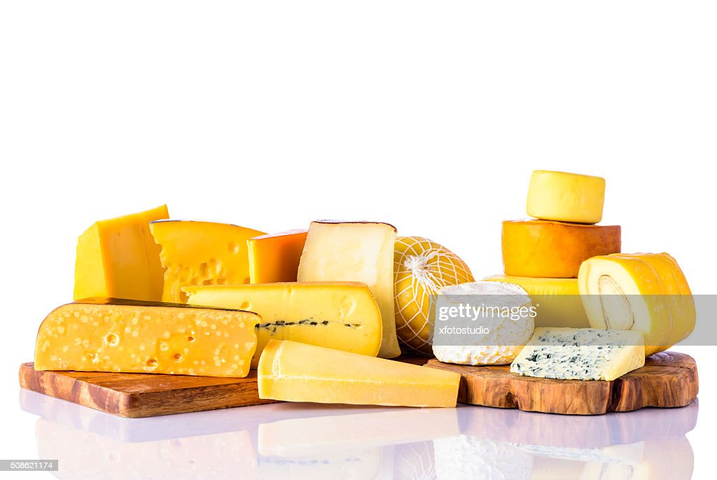 Cheese on White Background : Stock Photo