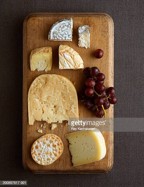 Cheese platter, overhead view