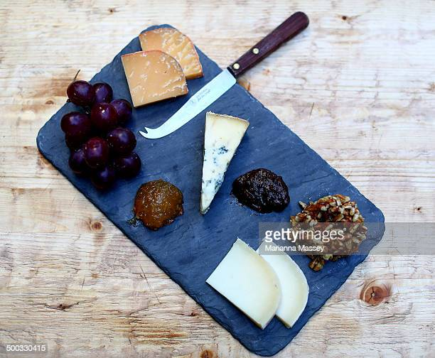 a cheese platter - salumeria stock photos and pictures
