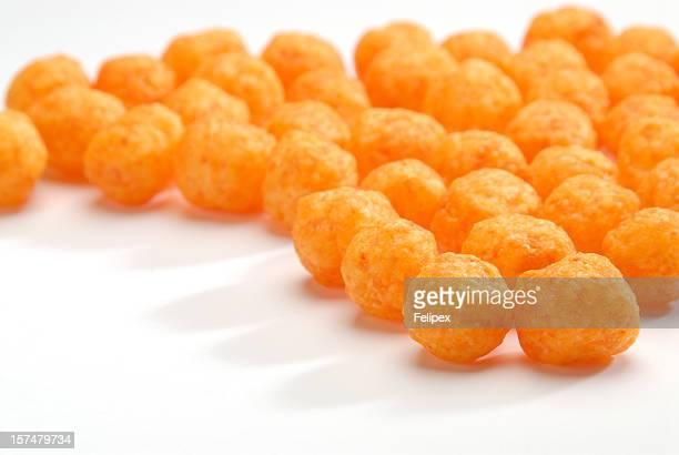 Cheese puffs balls.