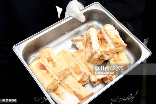 Cheese rolls shown during the Bluff Oyster Food Festival on May 26 2018 in Bluff New Zealand The annual event aims to showcase local Southland seafood
