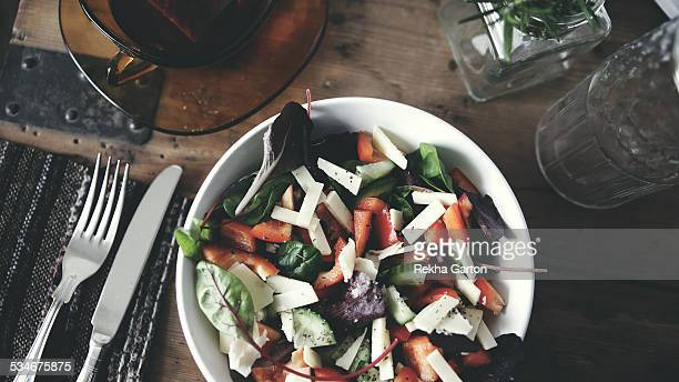cheese salad still life - rekha garton stock pictures, royalty-free photos & images
