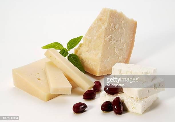 cheese selection - zwitserse kaas stockfoto's en -beelden
