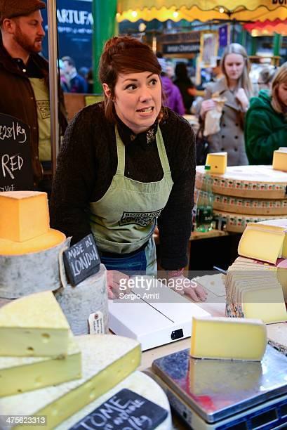 Cheese seller at Borough Market