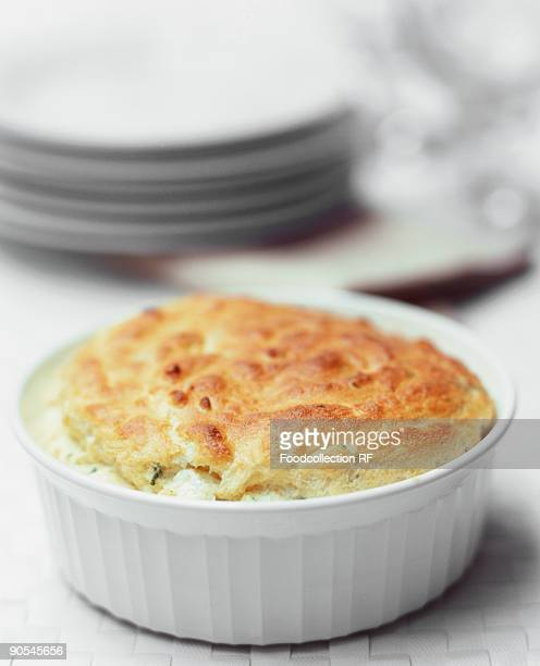 Cheese souffle, close up