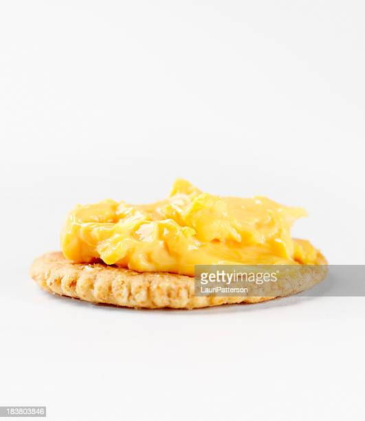 Cheese Spread on Whole Wheat Cracker