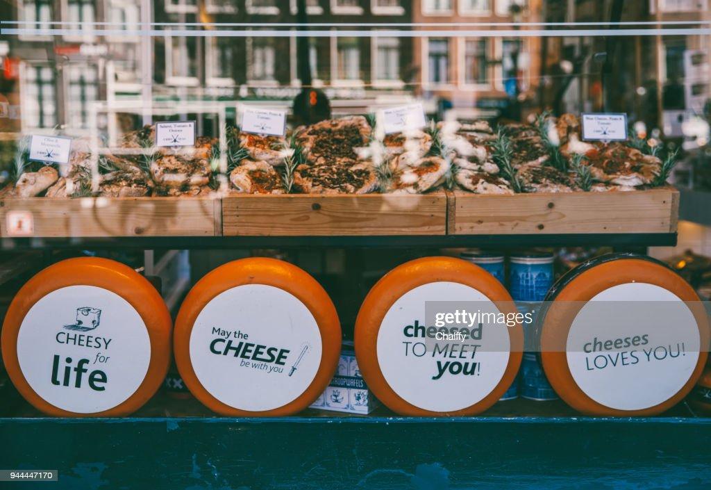 チーズ店 : ストックフォト