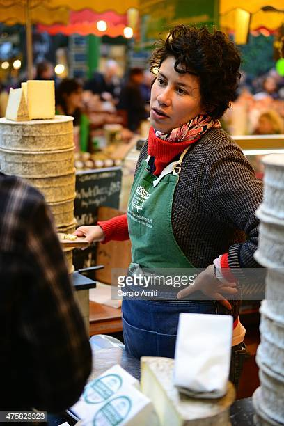 Cheese vendor at London Borough Market