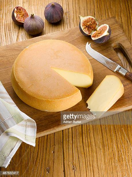 Cheese wheel with slice out