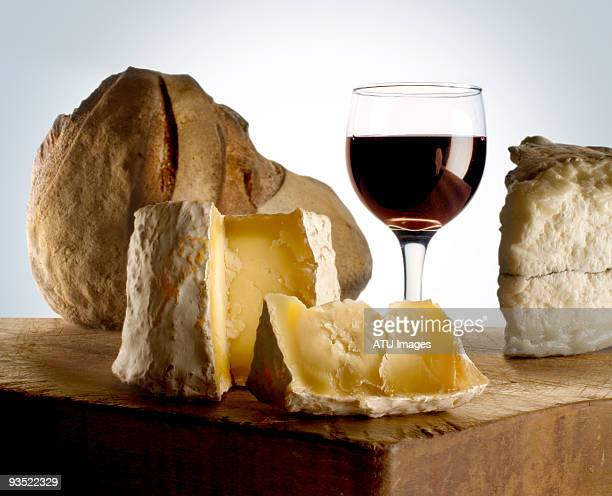 cheese wine bread - french food stock pictures, royalty-free photos & images