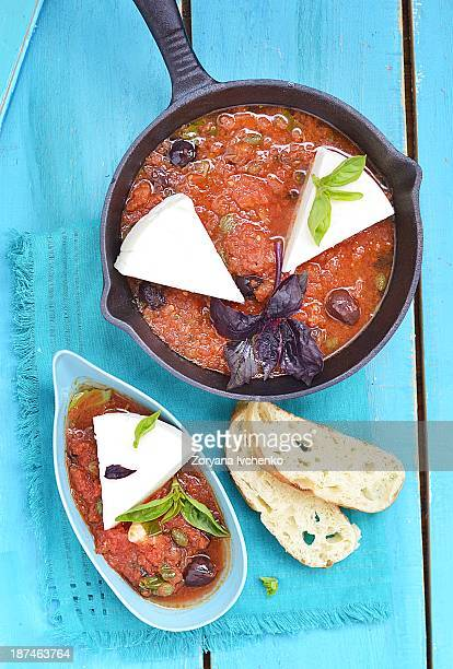 Cheese with tomato sause