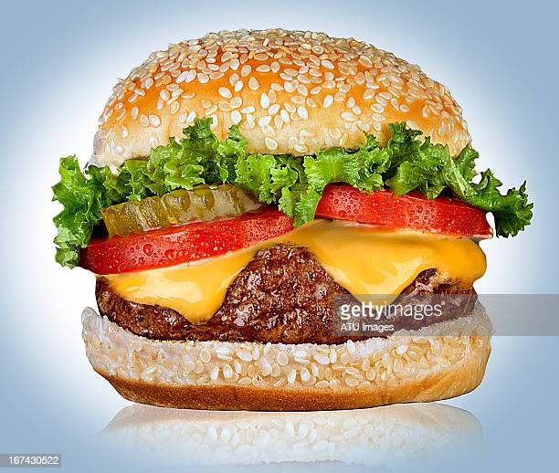 cheeseburger on white - cheeseburger stock pictures, royalty-free photos & images