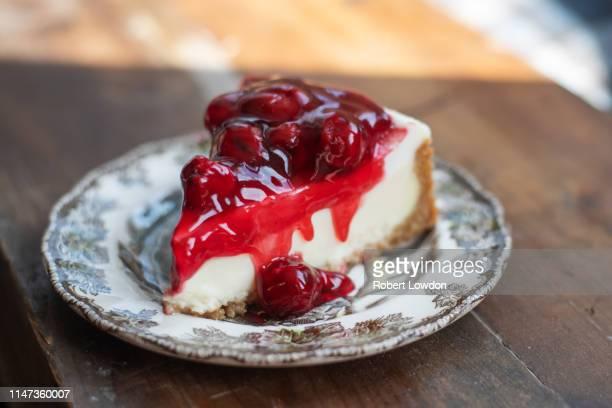 cheesecake - torta di ricotta foto e immagini stock