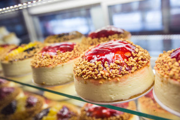 Cheesecake sits for sale in the Bakery display counter of Junior's restaurant, a staple of Brooklyn dining since the 1950s, on February 21, 2014 in...