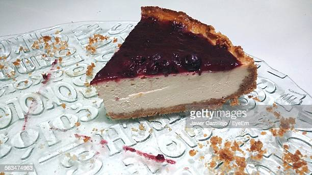 Cheesecake Slice In Plate