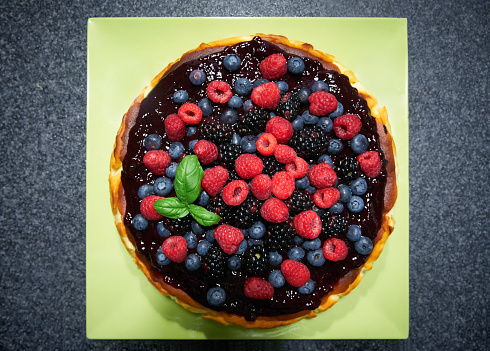 Cheesecake with berries - gettyimageskorea