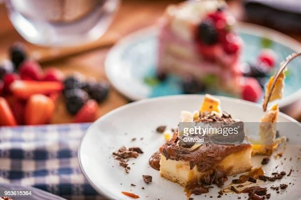 チョコレートとキャラメルのチーズケーキ