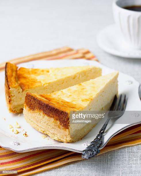Cheesecake with coffee