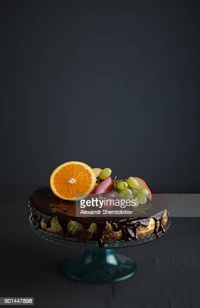 Cheesecake with fruits on top