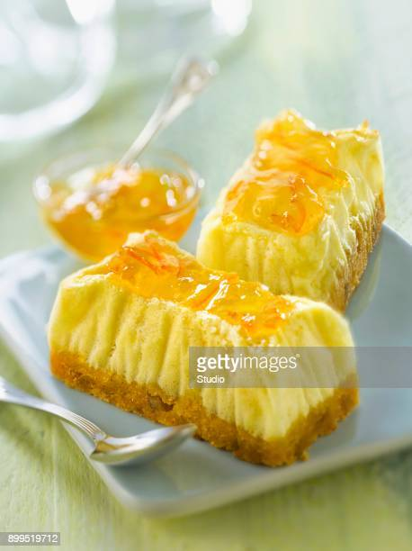 Cheesecake with marmelade