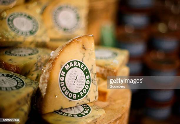 Cheeses are displayed for sale at a Whole Foods Market Inc store in Dublin Ohio US on Friday Nov 7 2014 Whole Foods Market Inc posted fiscal...