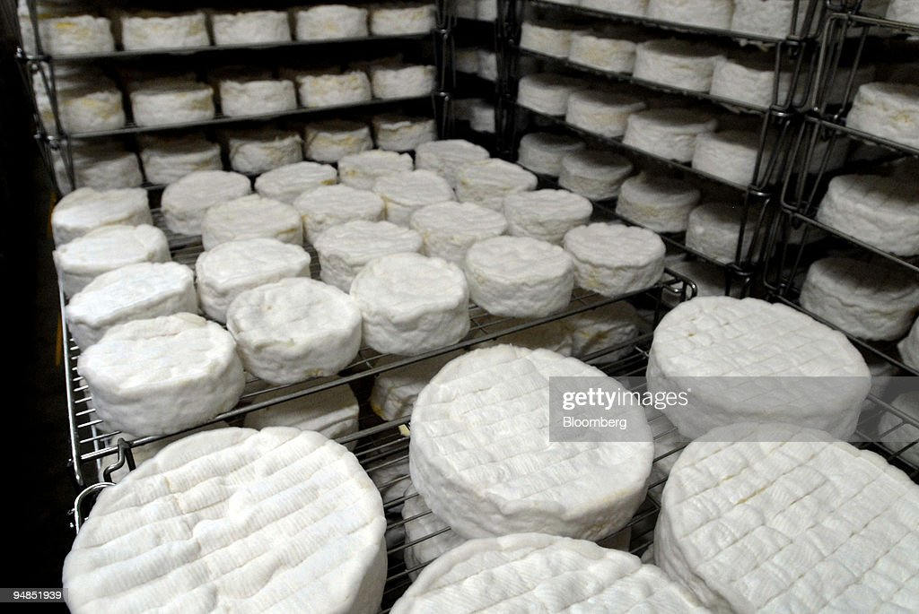 Cheeses are left to Mature at the REO Camembert plant in the : News Photo