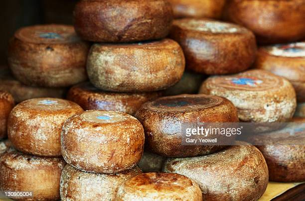 cheeses displayed inside a shop - yeowell stock pictures, royalty-free photos & images