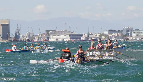 Cheesman Nicola Mcmullin AilbheVav Niekerk MoragLees Jill and O'Dea Brian in the Coastal Women's Coxed Quadruple Final Race during the 2014 World...
