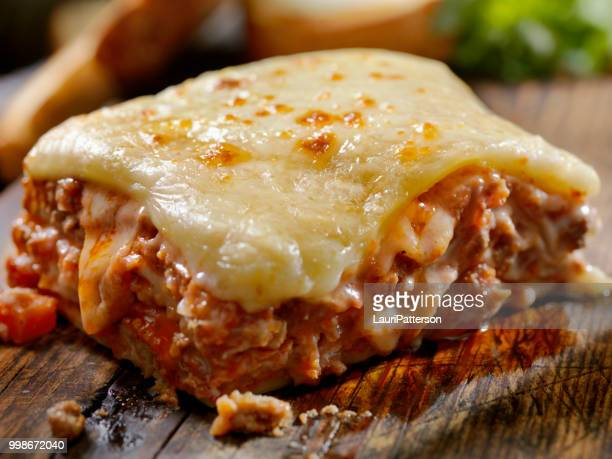 cheesy, beef and veal lasagna - lasagna stock pictures, royalty-free photos & images