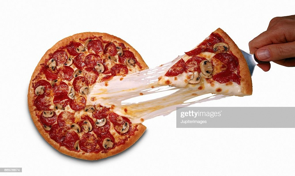 Cheesy pizza : Stock Photo