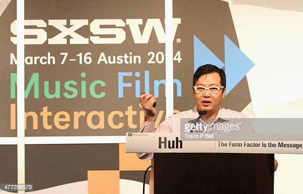 Cheezburger CEO Ben Huh speaks onstage at The Form Factor is the Message during the 2014 SXSW Music Film Interactive Festival at Austin Convention...