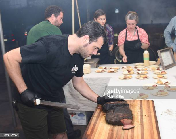 Chef Aaron Franklin attends PRE Brands Presents A Unique Culinary Experience at SXSW SouthBites on March 11 2017 in Austin Texas