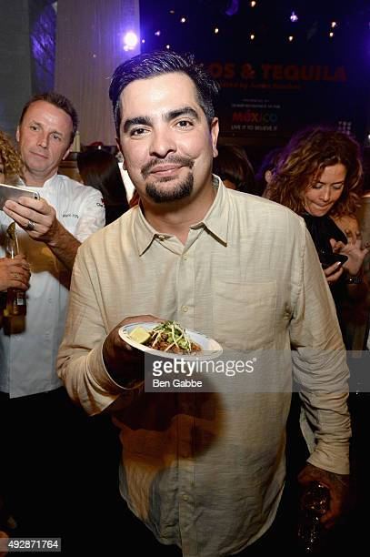 Chef Aaron Sanchez attends Tacos Tequila presented by Mexico hosted by Aaron Sanchez during Food Network Cooking Channel New York City Wine Food...