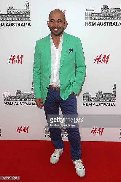 Chef Adam D'Sylva attends the VIP launch party for HM Australia at the GPO on April 3 2014 in Melbourne Australia