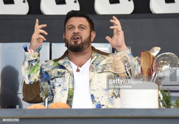Chef Adam Richman attends a Culinary event during the 2018 BottleRock Napa Valley at Napa Valley Expo on May 26 2018 in Napa California