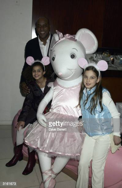 Chef Ainsley Harriet and his daughter at the Angelina Ballerina Nutcracker gala preparty on December 3rd 2002 at the St Martins hotel in London where...