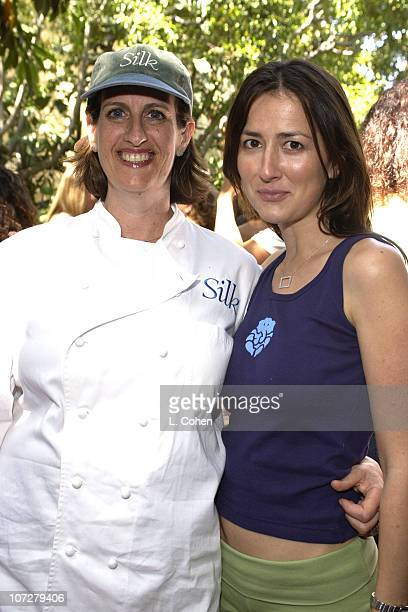 Chef Akasha & Anna Getty during Sunset Marquis Oasis Hosts Pre-MTV Awards with SPIN Magazine & Rock the Vote at Sunset Marquis Villas in West...