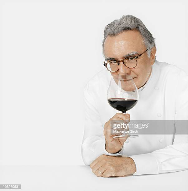 Chef Alain Ducasse at a portrait session in New York City