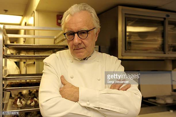 Chef Alain Ducasse attends a Dinner Hosted By Alain Ducasse Bradley Kilgore Bruno Riou Gregory Gourreau Michael White and Jason Bamford during 2016...