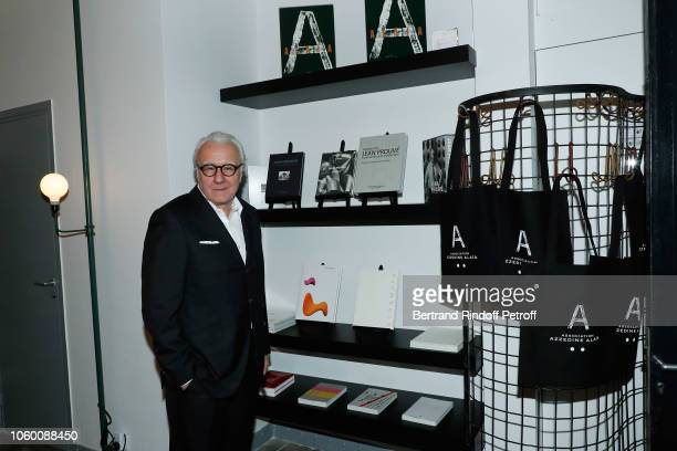 Chef Alain Ducasse attends Alaia Foundation Library Opening at Gallery Azzedine Alaia on November 10 2018 in Paris France