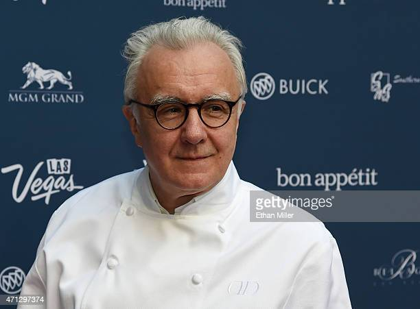 Chef Alain Ducasse attends Vegas Uncork'd by Bon Appetit's Grand Tasting event at Caesars Palace on April 24 2015 in Las Vegas Nevada