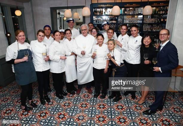 Chef Alain Ducasse hosts a celebration of women in the kitchen part of the Bank of America Dinner Series presented by The Wall Street Journal at...