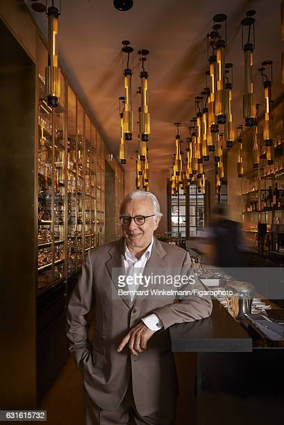 Chef Alain Ducasse is photographed for Madame Figaro on November 25 2016 in Versailles France Ducasse is photographed at his restaurant Ore the...