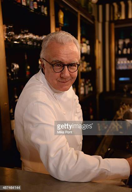 Chef Alain Ducasse poses at The Big Apple's French Revival Celebrating Bistro Cuisine at Benoit hosted by Alain Ducasse and Friends during the Food...