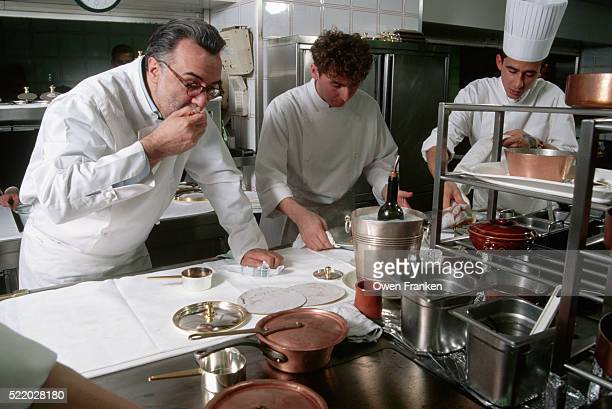 Chef Alain Ducasse Tastes Food