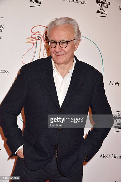 Chef Alain DucasseÊfrom Hotel Plaza Athenee attends 'Les Grandes Tables Du Monde' Cocktail at Four Seasons Georges V Hotel on April 7 2015 in Paris...