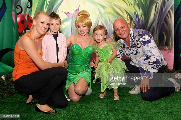 Chef Aldo Zilli his wife Nikki and children Rocco and Twiggy attend the UK premiere of 'Tinker Bell and The Great Fairy Rescue' at Mayfair Hotel on...