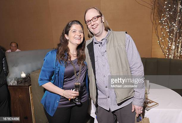 Chef Alex Guarnaschelli and chef Wylie Dufresne attend the Food Network Magazine celebration of her new cookbook 'Old School Comfort Food' at Butter...