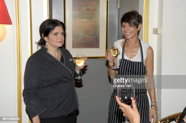 Chef Alex Guarnaschelli and Dominique Crenn speak during a Dinner with Dominique Crenn and Alex Guarnaschelli part of the Bank of America Dinner...