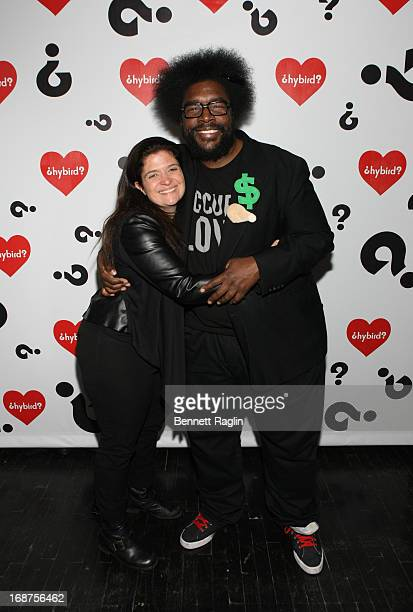 Chef Alex Guarnaschelli and Questlove attend the Hybird opening night party presented by Questlove and Stephen Starr inside Chelsea Market on May 14...